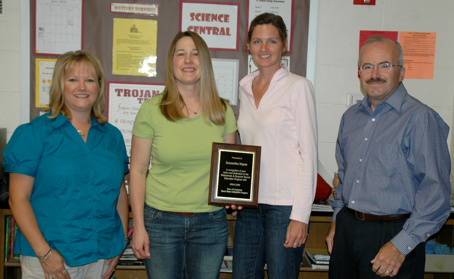 Teacher Receives Award