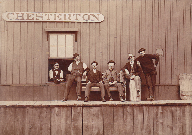 Chesterton Depot with 6 gentlemen
